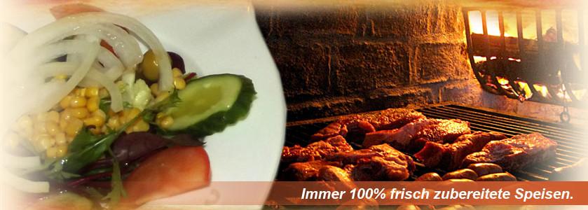 Immer 100% frisch zubereitet Speisen